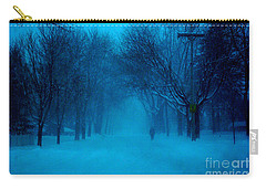 Blue Chicago Blizzard  Carry-all Pouch