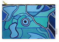 Blue Chicken Abstract Carry-all Pouch