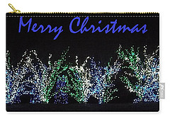 Blue Christmas Carry-all Pouch by Darren Robinson