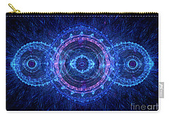 Blue Circle Fractal Carry-all Pouch