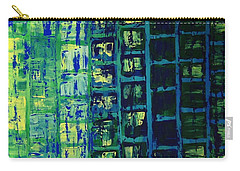 Carry-all Pouch featuring the painting Blue City 2 by Linda Bailey