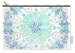 Blue Crab Mandala 5 Carry-all Pouch