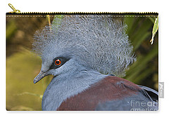 Carry-all Pouch featuring the photograph Blue-crowned Pigeon by David Millenheft