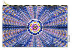Carry-all Pouch featuring the drawing Blue Crystal Consciousness by Derek Gedney