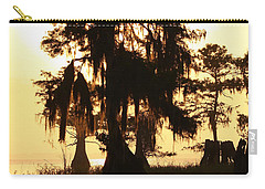 Carry-all Pouch featuring the photograph Blue Cypress Yellow Light by Paul Rebmann