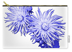 Carry-all Pouch featuring the photograph Blue Dahlia by Jane McIlroy
