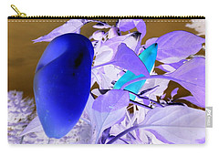 Carry-all Pouch featuring the photograph Blue Delight by Mike Breau
