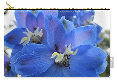 Blue Delphinium Rising Carry-all Pouch