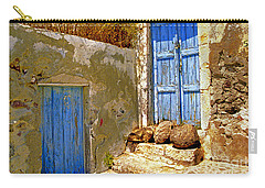 Blue Doors Of Santorini Carry-all Pouch