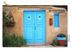 Blue Doors Of Taos Carry-all Pouch