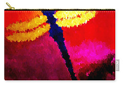 Blue Dragonfly No 2 Carry-all Pouch by Anita Lewis