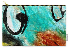 Carry-all Pouch featuring the painting Blue Dream by Joan Reese