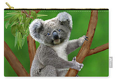 Blue-eyed Baby Koala Carry-all Pouch