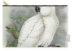 Blue-eyed Cockatoo Carry-all Pouch by William Hart