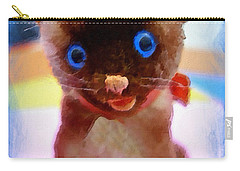 Blue Eyed Kitty Carry-all Pouch