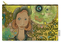 Blue-eyed Moon Carry-all Pouch by Carol Jacobs