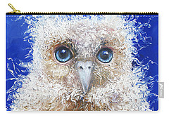 Blue Eyed Owl Painting Carry-all Pouch