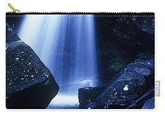 Carry-all Pouch featuring the photograph Blue Falls by Rodney Lee Williams
