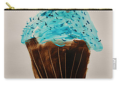 Carry-all Pouch featuring the painting Blue Flame  Blue Jimmies by John Williams