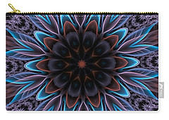 Carry-all Pouch featuring the digital art Blue Flower by Lilia D