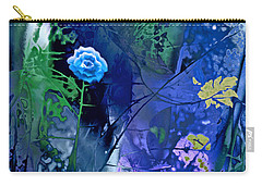 Blue Flower With Guardian Carry-all Pouch