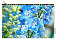 Blue Flowers Carry-all Pouch by Antony McAulay