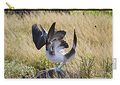 Blue-footed Courtship Behavior Carry-all Pouch by William H. Mullins