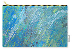 Blue Green Abstract Carry-all Pouch