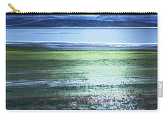 Carry-all Pouch featuring the photograph Blue Green Landscape by Belinda Greb