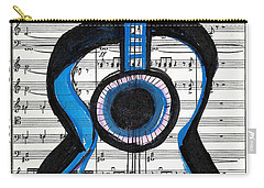 Blue Guitar Music Carry-all Pouch