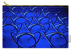 Carry-all Pouch featuring the photograph Blue Haze Circles by Joan Reese