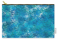 Carry-all Pouch featuring the digital art Blue Haze... by Tim Fillingim