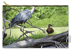 Blue Heron And Friend Carry-all Pouch