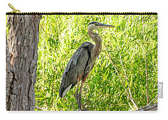 Blue Heron At Rest Carry-all Pouch
