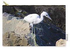 Blue Heron  Carry-all Pouch by Chris Thomas