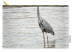 Carry-all Pouch featuring the photograph Blue Heron by Michael Chatt