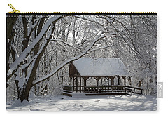 Blue Heron Park In Winter Carry-all Pouch
