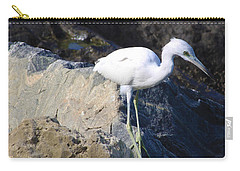 Blue Heron Squared Carry-all Pouch by Chris Thomas