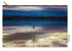Blue Heron Sun Set Carry-all Pouch
