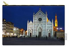 Blue Hour - Santa Croce Church Florence Italy Carry-all Pouch by Georgia Mizuleva