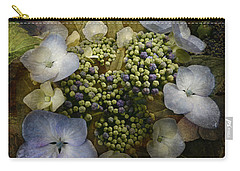 Carry-all Pouch featuring the photograph Blue Hydrangea by Barbara Orenya