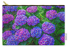 Carry-all Pouch featuring the photograph Blue Hydrangea by Hanny Heim