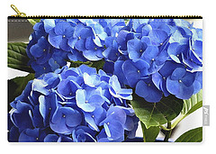 Carry-all Pouch featuring the photograph Blue Hydrangea by Lehua Pekelo-Stearns