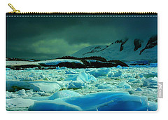 Carry-all Pouch featuring the photograph Blue Ice Flow by Amanda Stadther