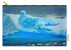 Carry-all Pouch featuring the photograph Blue Icebergs by Amanda Stadther