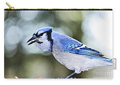 Blue Jay Bird Carry-all Pouch by Elena Elisseeva