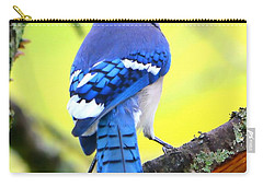 Carry-all Pouch featuring the photograph Blue Jay by Deena Stoddard