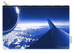 Blue Jet Pop Art Plane Carry-all Pouch
