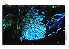 Blue Leaf Carry-all Pouch by Randi Grace Nilsberg