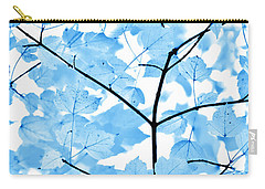 Carry-all Pouch featuring the photograph Blue Leaves Melody by Jennie Marie Schell